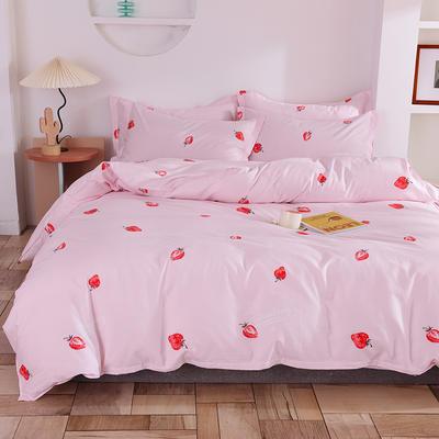 2020年新款12868全棉纯棉爆款网红小清新四件套 1.5m(5英尺)床 小草莓