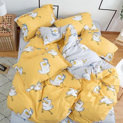 2020年新款12868全棉纯棉爆款网红小清新四件套 1.2m(4英尺)床 淘气鸭鸭