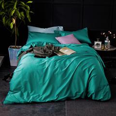 60支 贡缎长绒棉 素色套件 标准(200*230cm) 碧海清