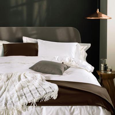 60支 贡缎长绒棉 素色套件 标准(200*230cm) 贵族白