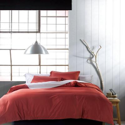 60支 贡缎长绒棉 素色套件 标准(200*230cm) 靓丽咖