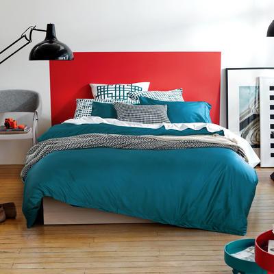 60支 贡缎长绒棉 素色套件 标准(200*230cm) 深海蓝