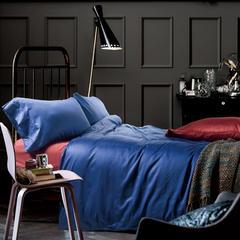 60支 贡缎长绒棉 素色套件 标准(200*230cm) 天空靛
