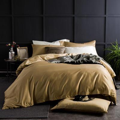 60支 贡缎长绒棉 素色套件 标准(200*230cm) 土豪金