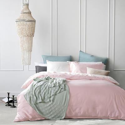 60支 贡缎长绒棉 素色套件 标准(200*230cm) 樱花粉