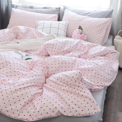 初心 系列   全棉时尚套件 1.2米床笠款(120*200*25) 粉沫