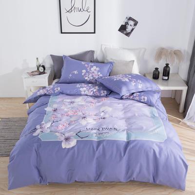 13372 匹马棉  新款  3月份新增 标准(200*230) 满园春 紫
