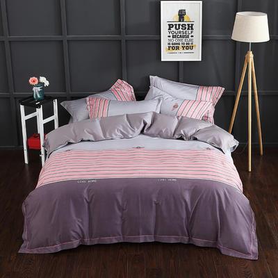 长绒棉印花  宽边系列 标准(200*230cm) 品尚 粉
