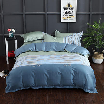 长绒棉印花  宽边系列 标准(200*230cm) 品尚 兰