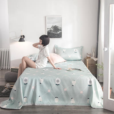 2019 凉感  冰丝席 三件套 床单245*250 水果蜜语-绿灰