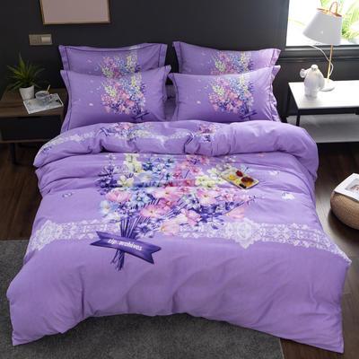 2019 新品磨毛 花卉系列 标准(200*230) 金枝玉叶 紫