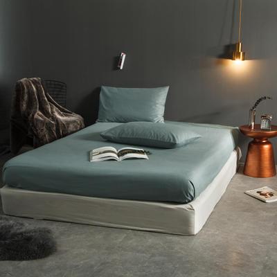 纯色磨毛  单床笠+ 枕套 枕套一对装 浅漾绿