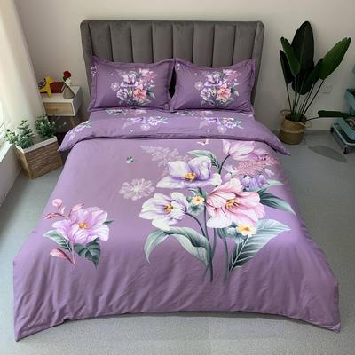 2019 磨毛实拍 标准(被套200*230) 婉约紫