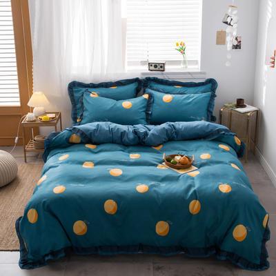 卡通 韩版贡棉磨毛 标准(200*230cm) 蓝色妖姬