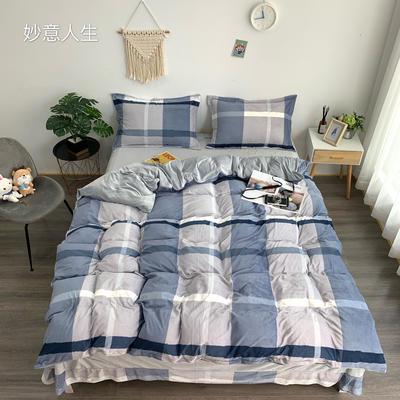 2019新款-水晶绒四件套 床单款1.5m(5英尺)床 妙意人生