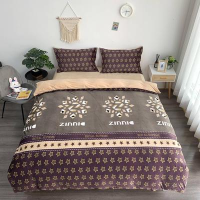 2019新款-水晶绒四件套 床单款1.5m(5英尺)床 星空驼色
