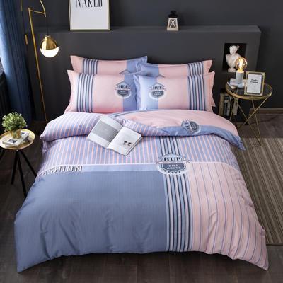 2020新款-格子卡通系列四件套 床单款1.5m(5英尺)床 艾瑞达