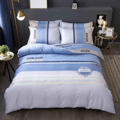 2020新款-格子卡通系列四件套 床单款2.0m(6.6英尺)床 布兰卡