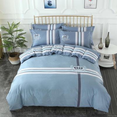 2020新款-格子卡通系列四件套 床单款1.5m(5英尺)床 简单生活