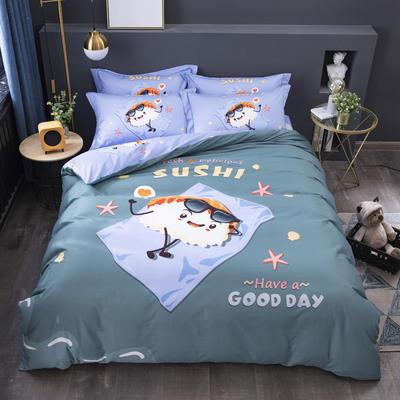 2020新款-格子卡通系列四件套 床单款1.5m(5英尺)床 精灵宝贝