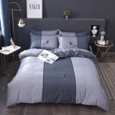 2020新款-格子卡通系列四件套 床单款1.5m(5英尺)床 酷派