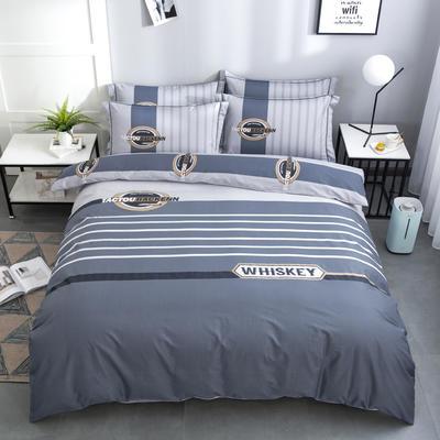 2020新款-格子卡通系列四件套 床单款1.5m(5英尺)床 美式情调