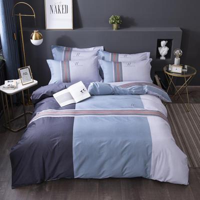2020新款-格子卡通系列四件套 床单款1.5m(5英尺)床 绅士品格