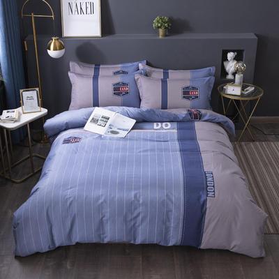 2020新款-格子卡通系列四件套 床单款1.5m(5英尺)床 时尚风