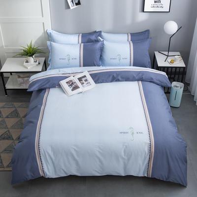 2020新款-格子卡通系列四件套 床单款1.5m(5英尺)床 西西里