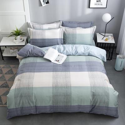 2020新款-格子卡通系列四件套 床单款1.5m(5英尺)床 宜家
