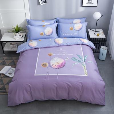 2020新款-花卉大版花四件套 床单款1.8m(6英尺)床 贝拉安娜
