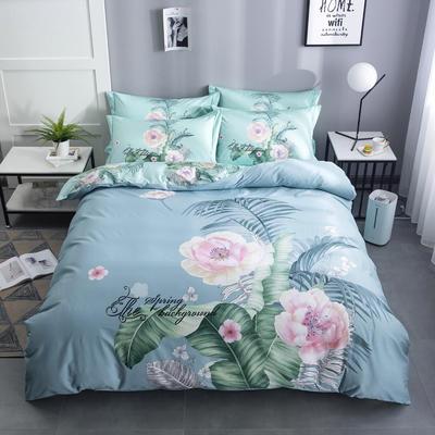 2020新款-花卉大版花四件套 床单款1.8m(6英尺)床 芳菲如玉