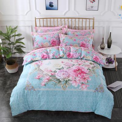 2020新款-花卉大版花四件套 床单款1.8m(6英尺)床 静若繁花