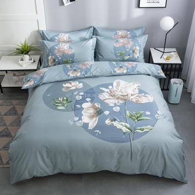 2020新款-花卉大版花四件套 床单款1.8m(6英尺)床 绿野仙踪 兰