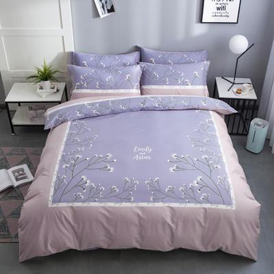 2020新款-花卉大版花四件套 床单款1.5m(5英尺)床 梦语