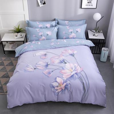 2020新款-花卉大版花四件套 床单款1.5m(5英尺)床 觅春