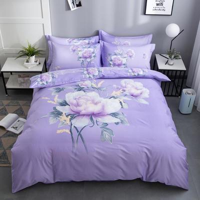 2020新款-花卉大版花四件套 床单款1.5m(5英尺)床 牡丹颂