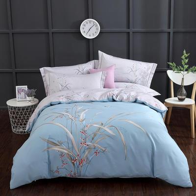 2020新款-花卉大版花四件套 床单款1.5m(5英尺)床 浓情