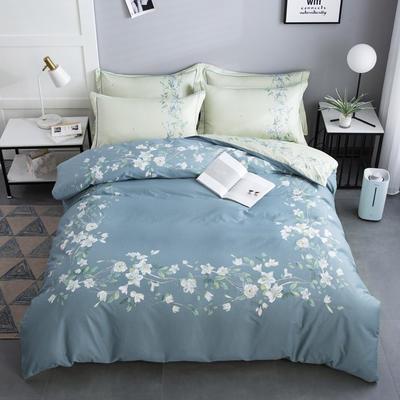 2020新款-花卉大版花四件套 床单款1.5m(5英尺)床 暖暖