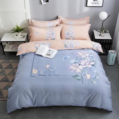 2020新款-花卉大版花四件套 床单款1.5m(5英尺)床 如梦花期