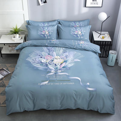 2020新款-花卉大版花四件套 床单款1.5m(5英尺)床 如梦令 兰