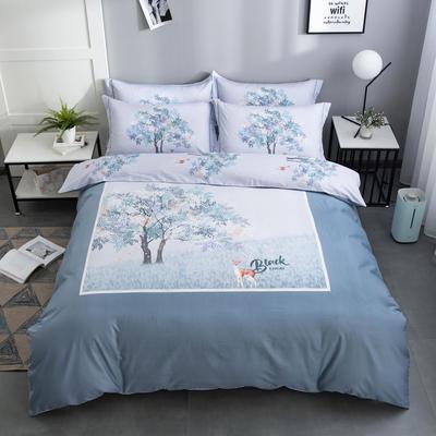 2020新款-花卉大版花四件套 床单款1.5m(5英尺)床 时光里