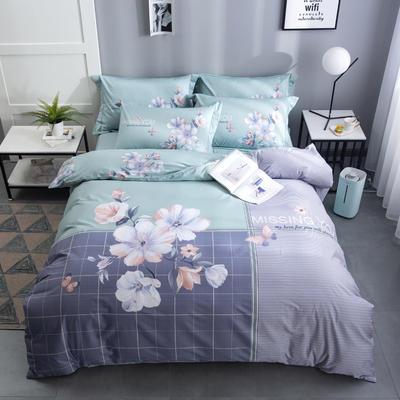 2020新款-花卉大版花四件套 床单款1.5m(5英尺)床 舒雅风情