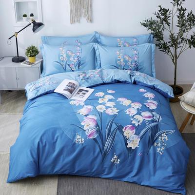 2020新款-花卉大版花四件套 床单款1.5m(5英尺)床 岁月静好