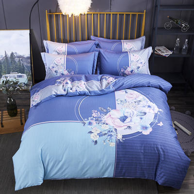 2020新款-花卉大版花四件套 床单款1.8m(6英尺)床 惜江月