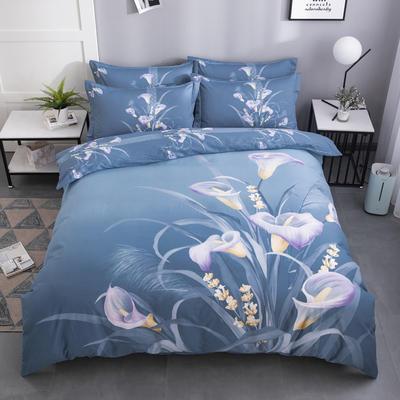 2020新款-花卉大版花四件套 床单款1.8m(6英尺)床 仙香花骨