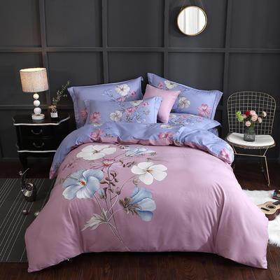 2020新款-花卉大版花四件套 床单款1.8m(6英尺)床 香颂