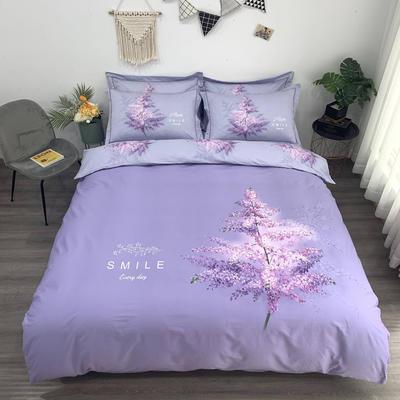 实拍  2020新款全棉大版 加大(220*240cm) 浪漫等待 紫