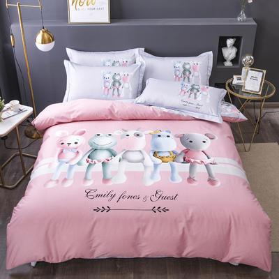 电子图 2020新款-第二批大版花 床单款1.5m(5英尺)床 童话时光 粉