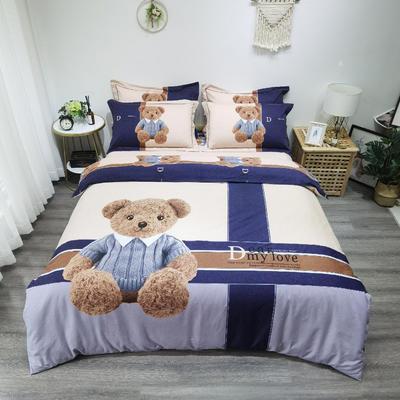 实拍 磨毛大版 标准(200*230cm) 熊可爱